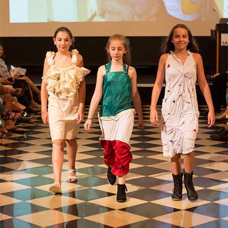 MSP students participate in a fashion show