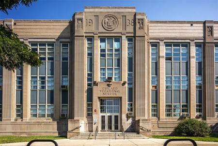 "Chicago Vocational High School. Courtesy of Lee Bey via ""Chicago Reader"""