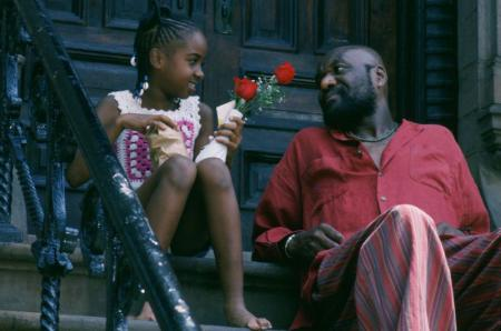 "Zelda Harris, left, and Delroy Lindo in a scene from Spike Lee's ""Crooklyn."" (Gene Siskel Film Center)"