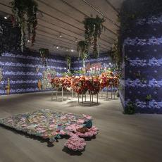 Ebony G. Patterson, . . . while the dew is still on the roses . . . , Pérez Art Museum Miami, 2018–19. Photo by Oriol Tarridas. Courtesy the artist and Monique Meloche Gallery, Chicago.