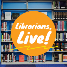 Graphic reading Librarians, Live!