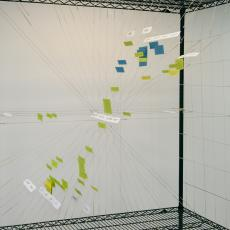 Piotr Michura, <i>Conversation Modeling</i>, visualization of the first act of The Arms and the Man by G. B. Shaw based on the Repertory Grid technique as a 3D structure