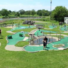 A long-neglected mini-golf course in Douglas Park has been brought back to life. Courtesy Pascal Sabino Block Club Chicago
