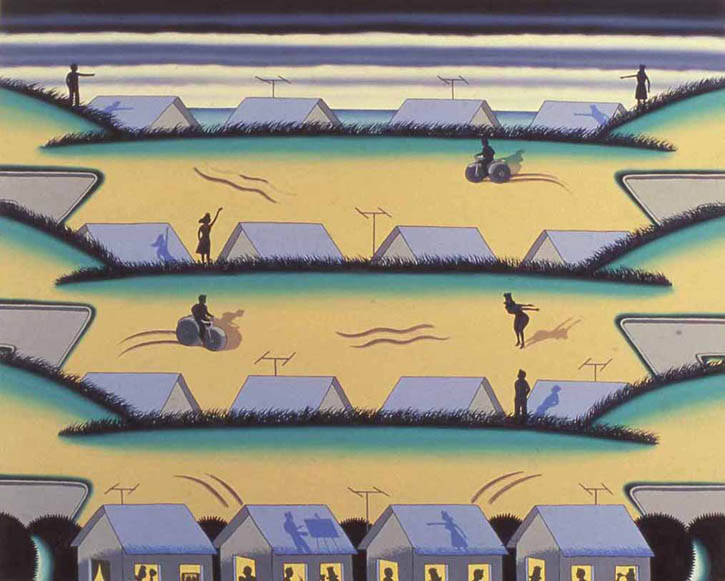 Figure 1. Roger Brown, Painter of the Dunes, 1977, o/c, 48 in. x 59.75 in.