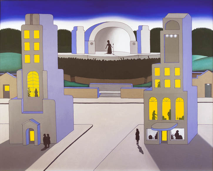 Figure 11. Roger Brown, Performance, 1971, oil on canvas, 48 in. x 60 in.
