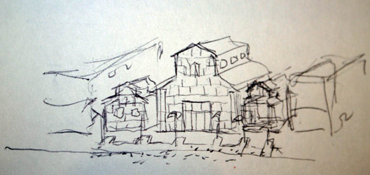 Figure 15. Roger Brown's sketch for 6754 Ojai.