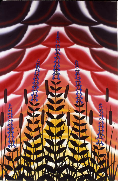 Figure 17. Roger Brown, Great Lobelia, 1980, o/c, 72 in. x 48 in.