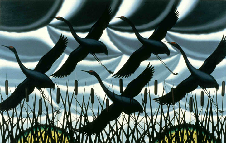 Figure 18. Roger Brown, Memory of Sandhill Cranes, 1981, o/c, 60 in. x 96 in.