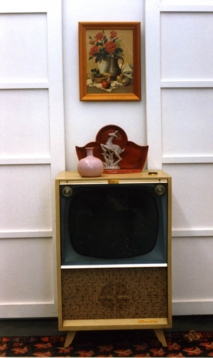 Figure 26. Television area, Roger Brown photo, c: 1990