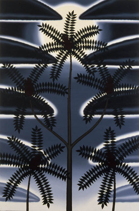 "Figure 26. Roger Brown, The Moon and Sumacs, o/c, 1981, 72"" x 48"""