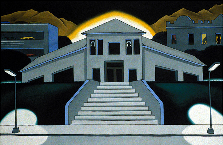 Figure 9. Roger Brown, Public Building, 1969, Acrylic on canvas
